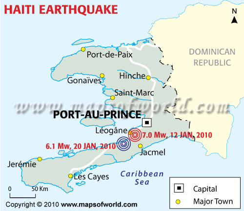 Haiti earthquake first human catastrophe of 2010 maps of world haiti earthquake first human catastrophe of 2010 gumiabroncs Image collections