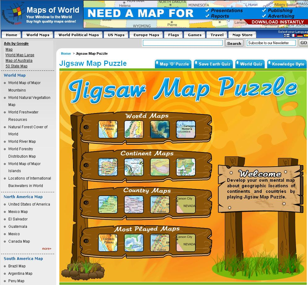 The Jigsaw Map Puzzle is