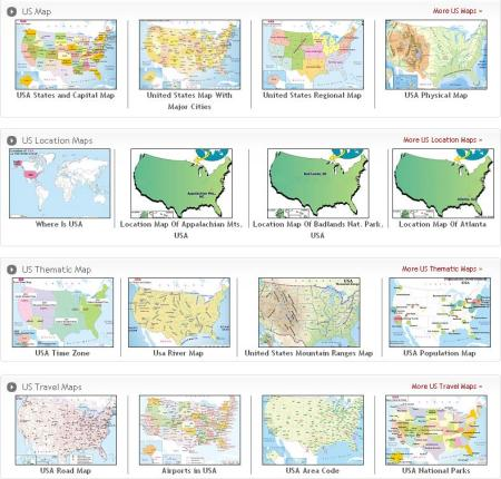 Index Page Of USA Maps Maps Of World - Us map major cities