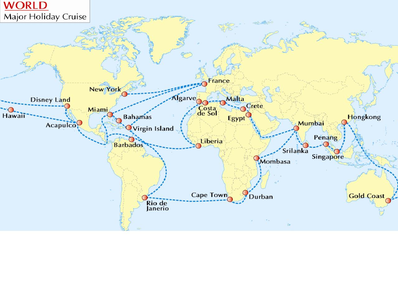 Let World Cruise Make Your Holiday Memorable Maps Of World