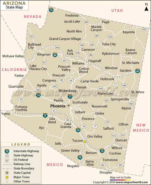 Arizona Map  Maps Of World