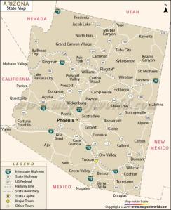 Arizona State Map | Maps of World